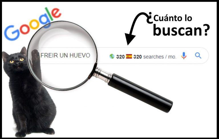Palabras clave: Cómo saber cuántas búsquedas tienen